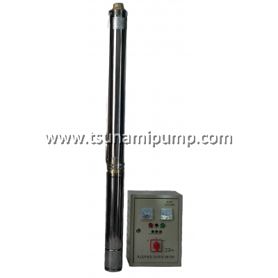 "R95-BF-18 Deep Well Stainless Steel Submersible Pump with Automatic Control Device (1.5"" outlet)"